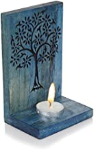 Hashcart Handcarved Wooden Tealight Candle Light Holder/Stand Table Decorative for Home Decoration