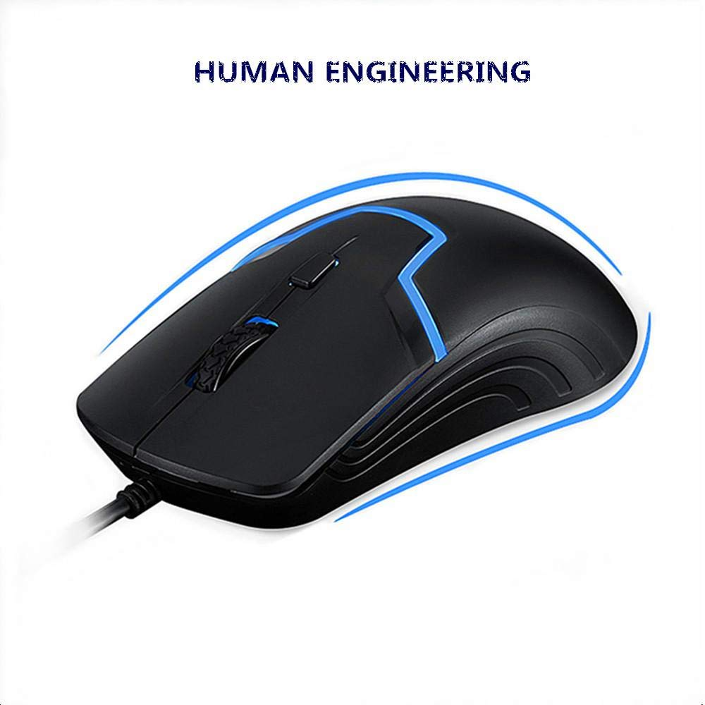 HP Wired Gaming Mouse 7 Color LED Light DPI Control M100, Black ...