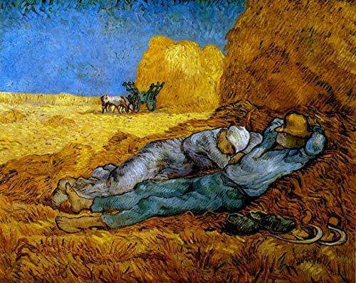Gran pintor Vincent van Gogh 5D DIY pintura de diamante redondo completo bordado de diamantes redondos venta imágenes de diamantes de imitación A17 40x50cm