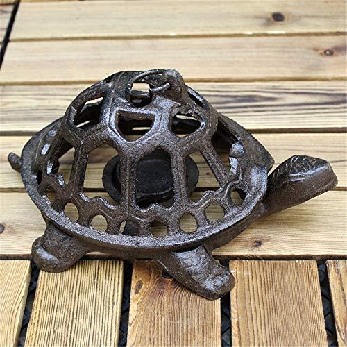 Gyubay Fundido de Hierro Titular Crafts Hueco Tortuga Portavelas Retro del Ornamento de la decoración del hogar Retro de la palmatoria Candelero Encantador