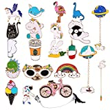 Tanersoned 22 Piezas Cartoon Enamel Lapel Pin Set, Lindo Broche Pins de Solapa, para DIY/Ropa/Bolsas/Mochilas/Jeans/Sombreros Decoración