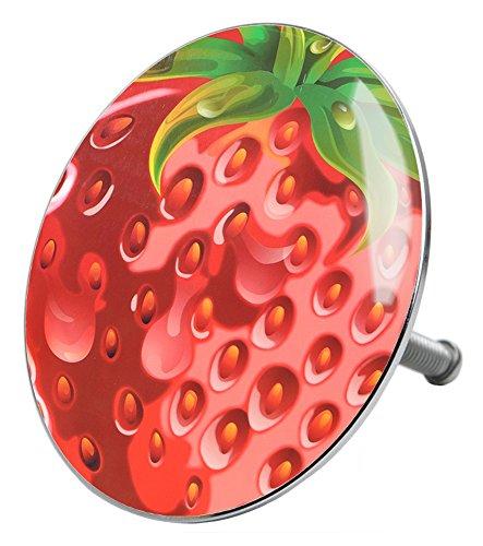 Badewannenstöpsel Strawberry, deckt den kompletten Abflussbereich ab, hochwertige Qualität ✶✶✶✶✶
