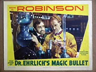 HB22 Dr Ehrlichs Magic Bullet EDW G ROBINSON Lobby Card. This is a lobby card NOT a video or DVD. Lobby cards were displayed in movie theaters to advertise the film. Lobby cards measure 11 by 14 inches.