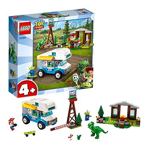 LEGO 10769 4+ Toy Story 4 Ferien mit dem Wohnmobil, Bauset mit Jessie, Alien, Rex und Forky Minifiguren
