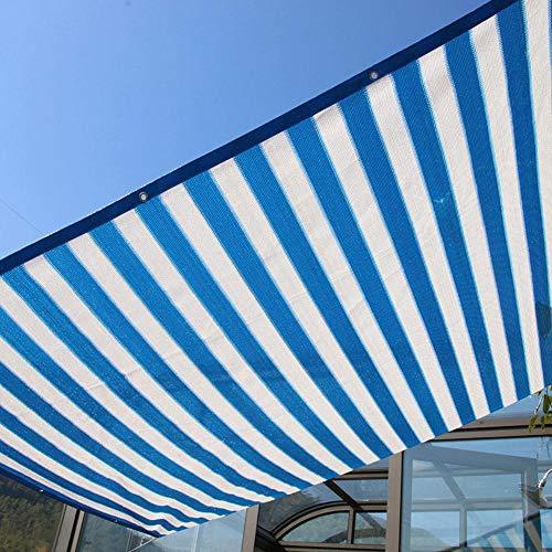 Nannday Schattennetze, 3 Stiche Kunststoff-Schattengitter für Patios Carports Caravan Annexes(2m*4m)