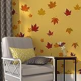 Runtoo Pegatinas de Pared Hojas de Arce Stickers Adhesivos Vinilo Plantas Decorativas Salon Dormitorio Habitacion Bebe