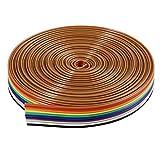 Cavo piatto del nastro BESTOMZ 5M 10 pin IDC cavo arcobaleno