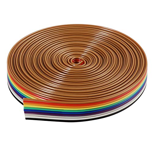 Flachkabel-Band Bestomz 5 m 10 Pin IDC-Kabel Regenbogen