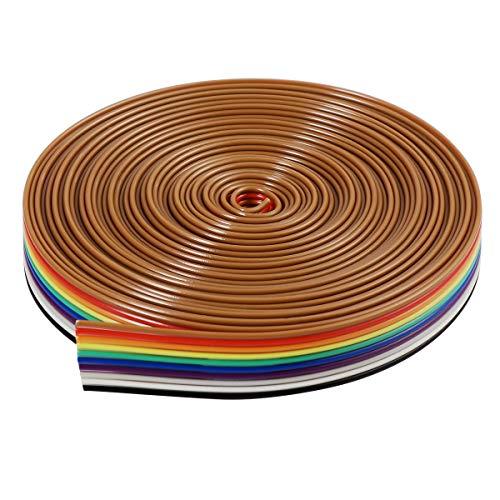 Flachkabel-Band Bestomz 5m 10Pin IDC-Kabel Regenbogen
