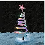 Las lámparas árbol de Navidad Espiral Adornos Solar LED Cadena de Ruta Buscador de Luces estaca 4pcs Decoración de Navidad Festiva del jardín al Aire Libre