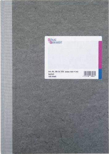 König & Ebhardt 8614224 Geschäftsbuch / Kladde (A4 kariert 80g/m², 192 Blatt Fadenheftung mit Seitenzahl))