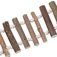 オウムのペットのためのケージの鳥のための無害な木製の鳥のはしご堅牢な強いインコのおもちゃ自然な耐久性