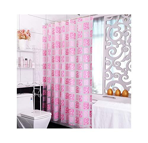 MaxAst Duschvorhang Wasserdicht Anti-Schimmel Blumen Duschvorhang Polyester Pink Bad Vorhang 300x200