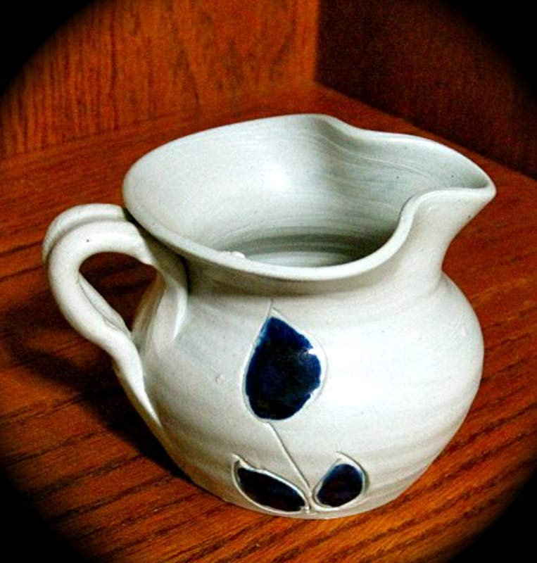 Williamsburg Pottery Small Salt Glaze Pitcher Creamer 3 Tall