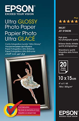 Epson S041926Ultra Glossy Photo Paper 20A610x 15cm (A6) Fotopapier