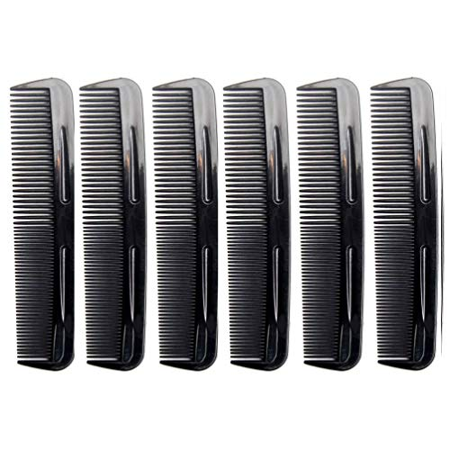 Favorict (6 Pack) 5' Pocket Hair Comb Beard & Mustache Combs for Men's Hair Beard Mustache and Sideburns