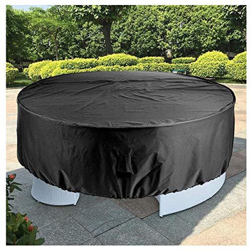 Cubierta redonda para mesa de jardín, impermeable, resistente al desgarro, para muebles de jardín, de Oxford, para exteriores, para jardín, patio, cubierta para sofá de ratán (tamaño: 280 x 110 cm)