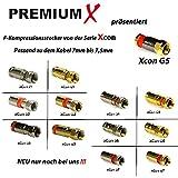 PremiumX  100m Sat/LNB Koaxialkabel, Reines Kupfer, 4-Fach geschirmt + 10 F-Stecker mit Gummiring - 2