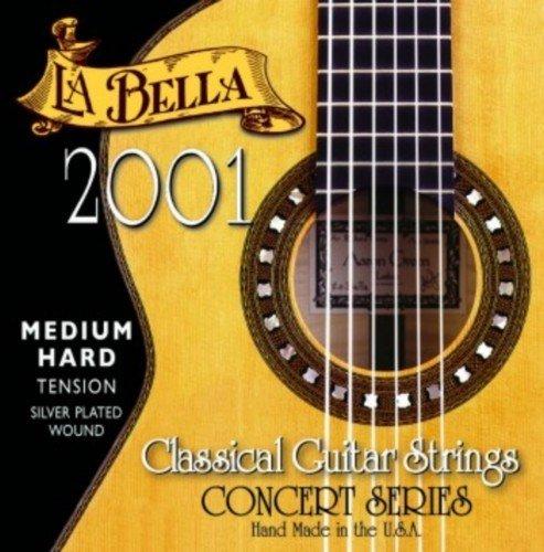 CUERDAS GUITARRA CLASICA - La Bella (2001/MHT) Media Fuerte (Juego Completo)