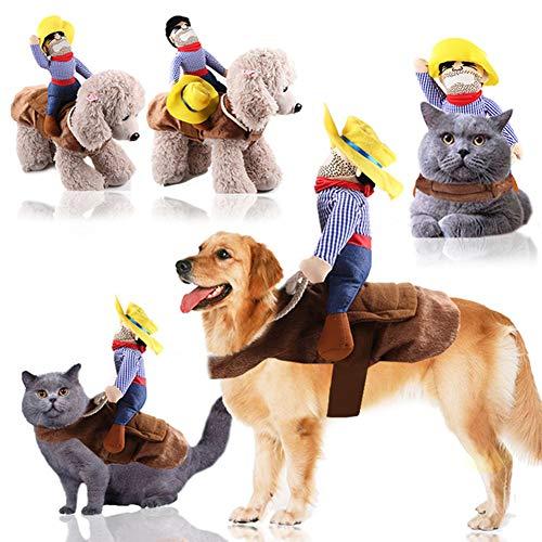 OOFAY Hundebekleidung, Katzen, Tierbedarf, Reiten, Transvestiten, Halloween Lustige Kleine Mittelgroße Kleidung, Haustier Rollenspiel Kleidung Requisiten,L