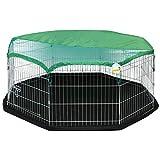 Me & My Pets Box playpen per Animali Medio, Copertura del Pavimento & Copertura dal Sole