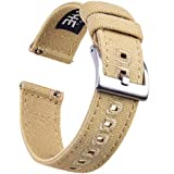 22mm Canvas Quick Release Watch Band Khaki...