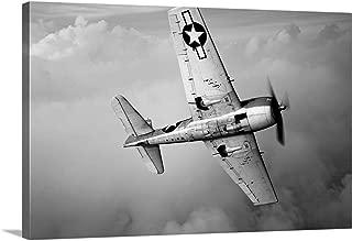 GREATBIGCANVAS Gallery-Wrapped Canvas A Grumman F6F Hellcat Fighter Plane in Flight by Scott Germain 60