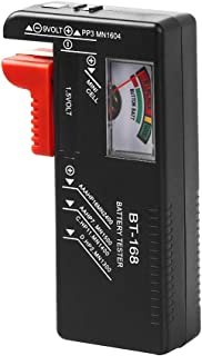 Battery Tester, VTECHOLOGY Model BT-168 Battery Checker for AA AAA C D 9V 1.5V Button Cell Batteries (Requires No Battery ...