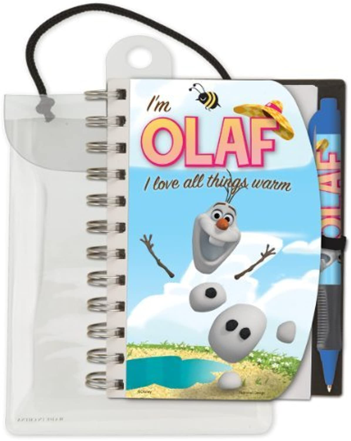 National Design Disney Frozen Olaf Deluxe Hardcover 4 x 6 Notebook and Pen Set by National Design