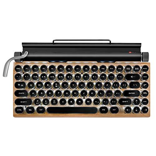 Tastiera bluetooth wireless, forma a punto retrò, macchina da scrivere, liscia e liscia, utilizzata per tablet e laptop (1)
