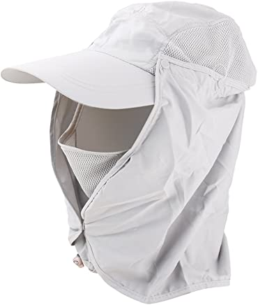 Generic 360-degree Outdoor Sun Protection Hat with Face Protector (Grey)