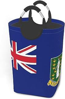 Paniers de rangement du drapeau des îles Vierges britanniques Panier à linge sale et flexible Sac organisateur écologique ...