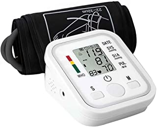 B-black® Medidor de presión arterial LCD digital automático de la presión sanguínea de la muñeca del monitor de ritmo cardíaco frecuencia de la muñeca del brazo Meter pulsómetro