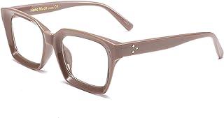 نظارات مربعة كلاسيكية من FEISEDY إطار نظارة سميك بدون وصفة طبية للنساء B2461