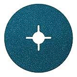 50x Fiberscheiben 115mm Körnung = 80 f Edelstahl Metall Schleifpapier Schleifblatt für Winkelschleifer