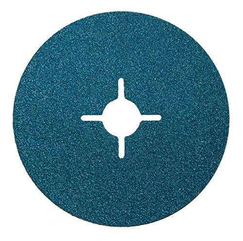 50 x glasvezelschijven 115 mm korrel = 24 f roestvrij staal metaal schuurpapier schuurblad voor haakse slijper