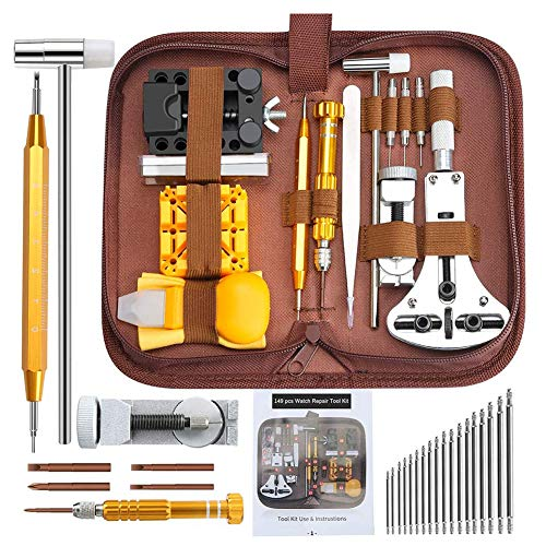 Uhr Reparatur Kit ZurüCk Fall Halter Opener Entfernen Verbindungs Remover FrüHlings Stab Pin Werkzeug Uhrmacher Adjustment Tool Kit 149pcs