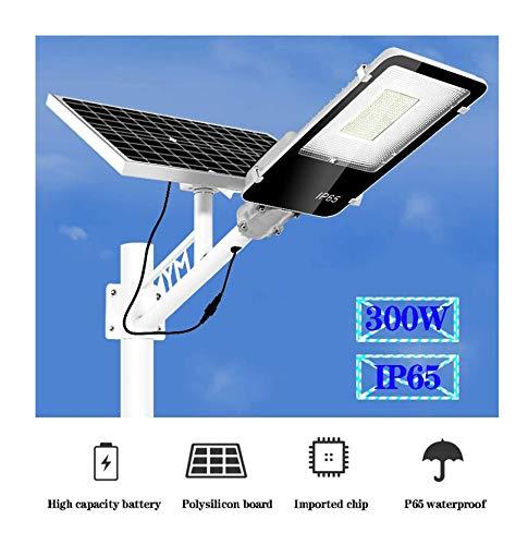 light Lampada Stradale Solare 50W/300W/400W,Impermeabile Lampione Solare A LED con Pannello Fotovoltaico Inclinabile E Telecomando per Muro, Giardino, Terrazzino, Cortile Luci Solari