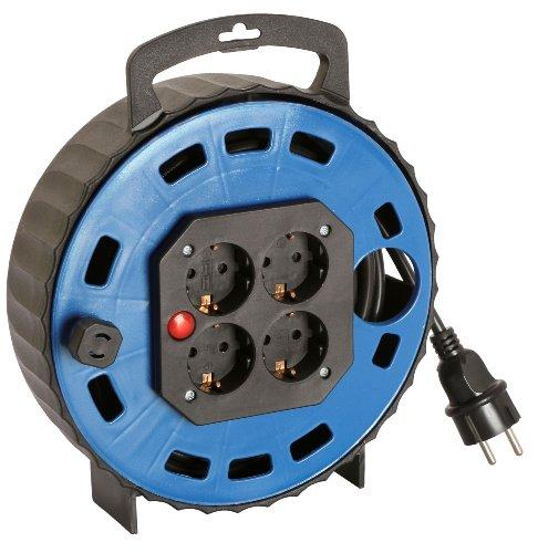 Preisvergleich Produktbild as - Schwabe 16315 Kunststoff-KabelBox TBS,  blau 15 m H05VV-F 3G1.5,  schwarz,  IP20 Innenbereich