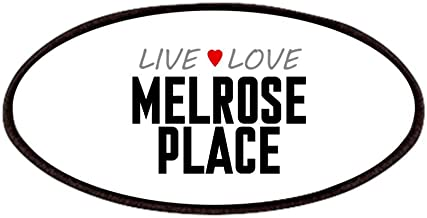 CafePress Live Love Melrose Place Patches Patch, 4x2in Printed Novelty Applique Patch