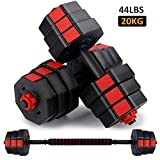 wolfyok Fitness Dumbbells Set, Adjustable Weight to 44Lbs, Home Fitness Equipment for Men and Women...