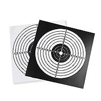 XFC-BAZI、 100ピースターゲット紙ペイントボールターゲットポスタースクエア射撃練習紙狩猟射撃ターゲットシート14×14センチ弓と矢 (色 : ブラック)