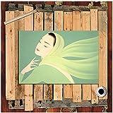 Famoso pintor japonés Pintura Arte de la pared Pintura Cuadros Mujer Pañuelo volador Lienzo Pintura Decoracion de la habitación 50x70 cm x1 Sin marco