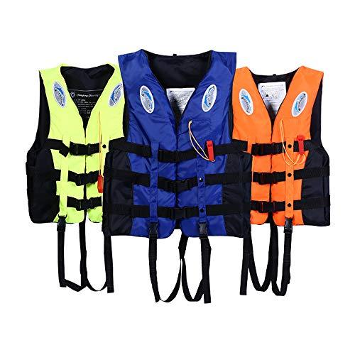 Verdickte Schwimmweste aus Seeschaum für Erwachsene Geeignet für Aktivitäten wie Angeln und Bootfahren,Orange,XS