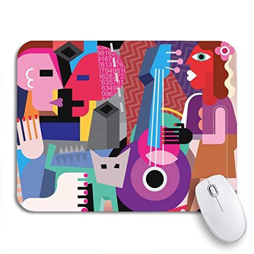 N\A Alfombrilla de ratón para Juegos Picasso La Pareja de Baile y Mujer Tocando la Guitarra Funda de Goma Antideslizante para computadora Alfombrilla de ratón para portátiles Alfombrillas de ratón