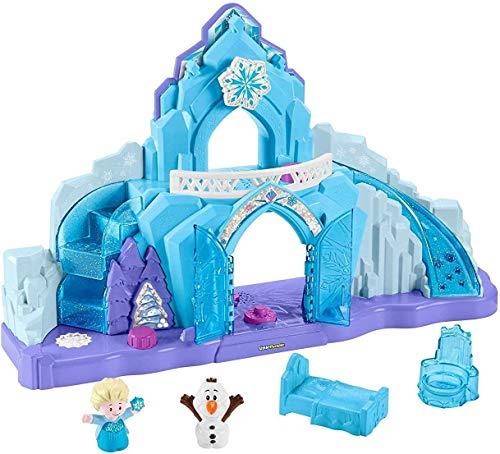 Little People GGV29 Fisher-Price Disney Frozen Elsas Eispalast, Musikalisches beleuchtetes Spielset, Mehrfarbig