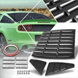 Rear + Side Window Louver Sun Shade Cover Compatible with 05-14 Ford Mustang Coupe (Black)