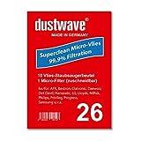 dustwave - 10 bolsas para aspiradoras Grundig VCC 4950 (fabricadas en Alemania, incluye microfiltro)