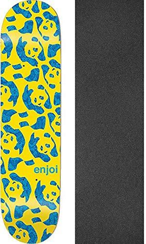 Enjoi Skateboards Repeater Skateboard-Brett/Deck, 20,6 x 81,3 cm, mit schwarzem Jessup Griptape, Gelb, 2 Stück