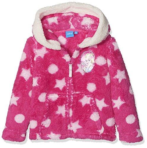 Disney Frozen Die Eiskönigin Kinder Fleece Jacke mit Kapuze, Gr. 140 (Herstellergröße: 10Y/140CM), Violett (Purple 001)